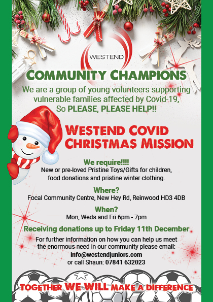 Westend Champions Xmas Banner_Flyer